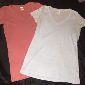 Two Victoria secret pink T-shirts size small